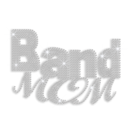 Crystal Band Mom Rhinestone Iron on Transfer Design