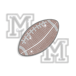 Cool Football Mom Iron-on Hotfix Rhinestone Transfer