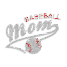 Magic Show Cool Baseball Mom Iron on Rhinestone Transfer