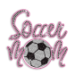 Magic Show Soccer Mom Rhinestud Glitter Iron on Transfer