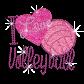 Kid Show I Love Volleyball Glitter Nailhead Iron on Transfer