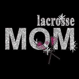 Bling Lacrosse Mom Iron-on Glitter Rhinestone Transfer
