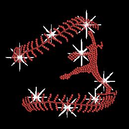 Ruby Professional Softball Player Hotfix Rhinestone Transfer