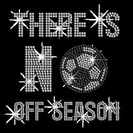 No Off Soccer Season Iron-on Rhinestone Transfer