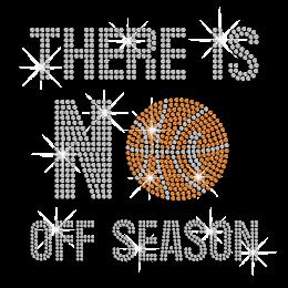 No Off Basketball Season Iron-on Rhinestone Transfer