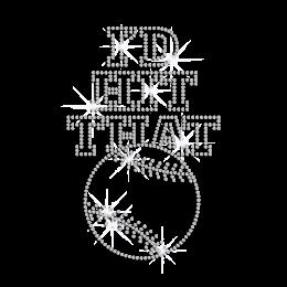 Bling I\'d Hit That Baseball Heat Press Rhinestone Transfer