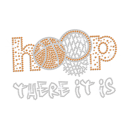 Basketball Hoop For Dunk Iron-on Rhinestone Transfer