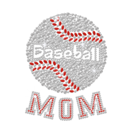 Baseball Mom ISS Show Iron-on Nailhead Transfer Motif