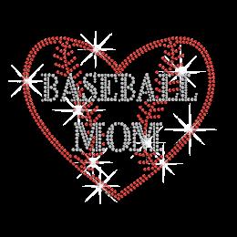 Crystal Baseball Mom Hotfix Rhinestone Transfer