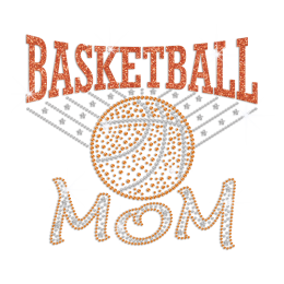 Basketball Mom ISS Show Hotfix Nailhead Glitter Transfer Motif