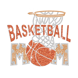 Basketball Mom Hotfix Rhinestone Glitter Transfer