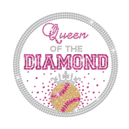 Queen of the Diamond Iron on Rhinestone Transfer Motif