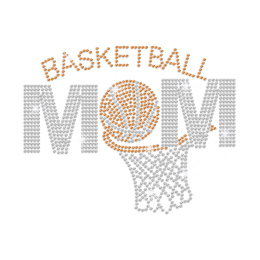 Bling Basketball Mom Rhinestone Iron On
