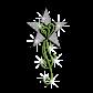 Flower Heart Growing In Star Iron-on Rhinestone Glitter Transfer