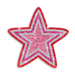 Pretty Twinkling Star Iron-on Glitter Rhinestone Transfer