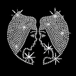 Crystal Gemini Symbol Iron-on Rhinestone Transfer