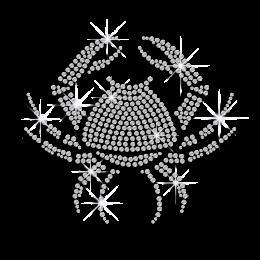 Crystal Cancer Symbol Iron-on Rhinestone Transfer