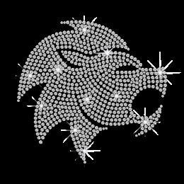 Crystal Leo Zodiac Hot-fix Rhinestone Transfer