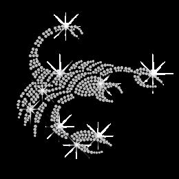 Crystal Scorpio Symbol Iron-on Rhinestone Transfer