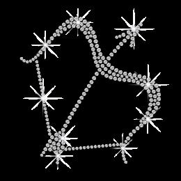 Crystal Sagittarius Symbol Iron-on Rhinestone Transfer