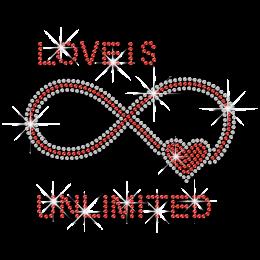 Bling Unlimited Love Heart Iron-on Rhinestone Transfer