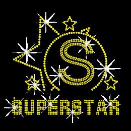 Big SuperStar Heat Press Rhinestone Transfer
