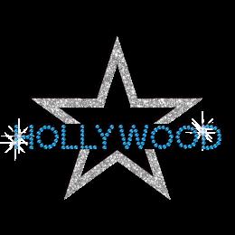 Hollywood Star Iron-on Rhinestone Glitter Transfer