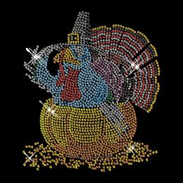Best Custom Sparkling Turkey Hotfix Transfer Design for Shirts