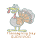 Thanksgiving Day Survivor Iron on Rhinestone Transfer Motif
