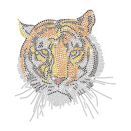 Majestic Tiger Rhinestone Transfer Iron on Design