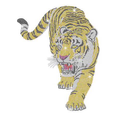 Hotfix Strass Tiger Motif Design for Clothing
