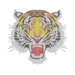 Classic Hotfix Tiger Rhinestone Motif for t shirt
