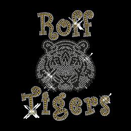 Tiger Head Crystal Rhinestone Hot Fix Transfer Design