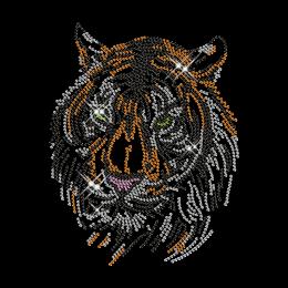 Rhinestone Tiger Head Iron on Transfer Pattern