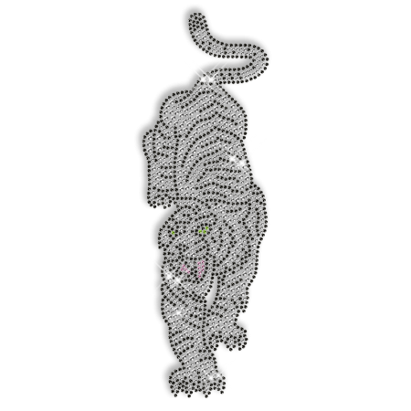 Crystal Rhinestone Tiger Hot Fix Pattern