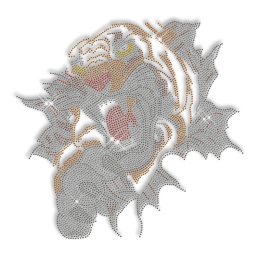 Custom Cool Shinning Fierce Tiger Diamante Iron on Transfer Design for Shirts