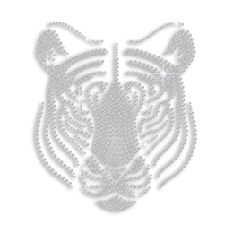 Crystal Tiger Head Heat Press Rhinestone Transfer