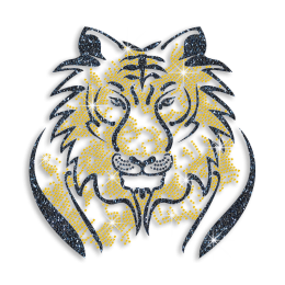 Imperatorial Tiger Iron on Glitter Rhinestone Transfer