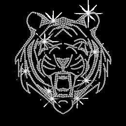 Crystal Tiger Face Heat Press Rhinestone Transfer