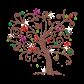 Rhinestone Colorful Flower Tree Iron on Transfer