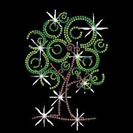 Little Cartoon Tree Hot Fix Rhinestud Iron on Transfer