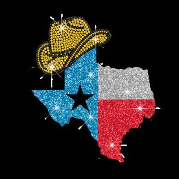Bling Texas Style Iron-on Glitter Rhinestone Transfer
