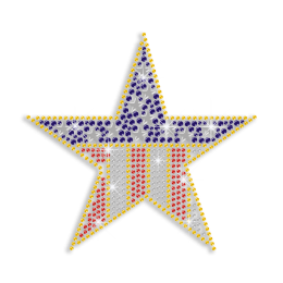 Pretty US Star Hot Fix Naihead Rhinestone Transfer