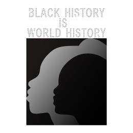Black History Is World History Iron on Holofoil Rhinestone Transfer Motif