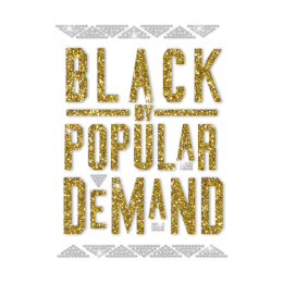 Glittering Black By Popular Demand Iron on Rhinestone Transfer Decal