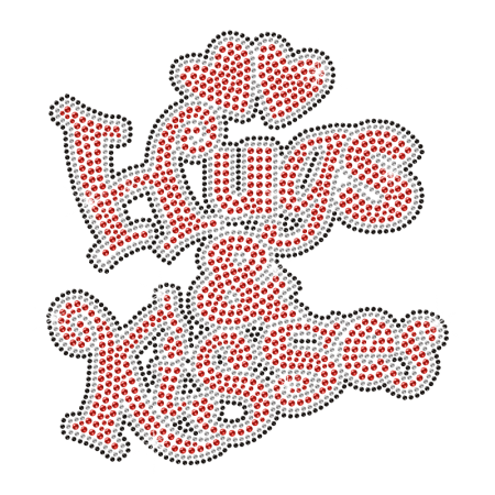 Hugs & Kisses Iron on Strass Design