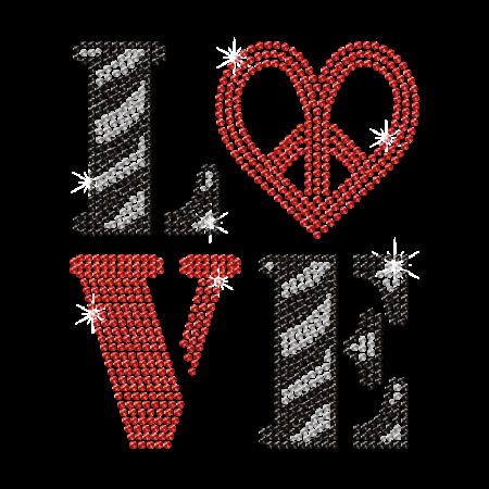 Hotfix Valentine Love Lettering Rhinestud Motif