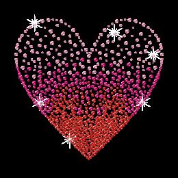 Bling Loving Heart Valentine Rhinestud Iron-on Transfer