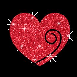 Wholesale Love Heart Iron on Glitter Rhinestone Transfer Motif