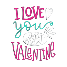 I Love My Valentine Vinyl Transfer